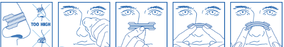 nasal strip usage